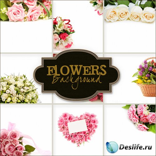 Цветочные фоны для фотошопа (Flowers Backgrounds #17)