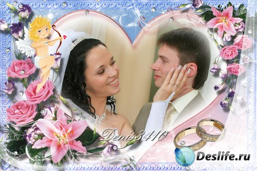 Рамочка для свадебного фото - Ангел хранитель любви