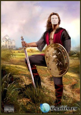 Костюм для фотошопа - Рыцарь с мечем!