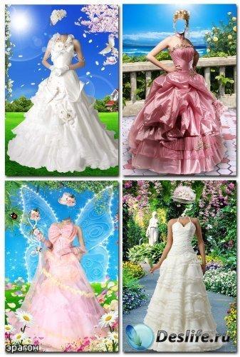 Коллекция женских костюмов для фотомонтажа – Нарядные платья
