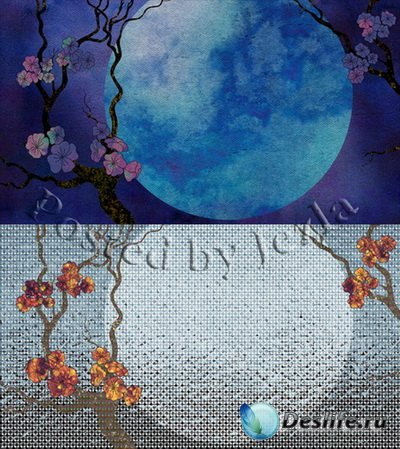 PSD Исходники - Цветущая Сакура
