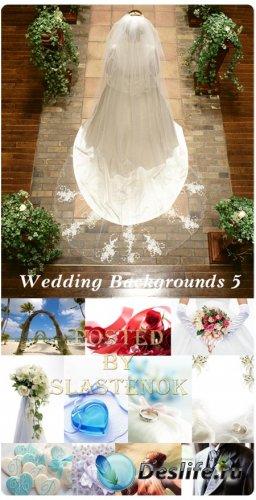 Фотоклипарт - Свадебные фоны 5