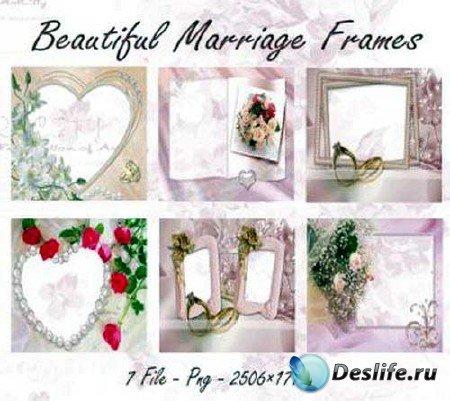 7 красивых свадебных рамок для фотошопа
