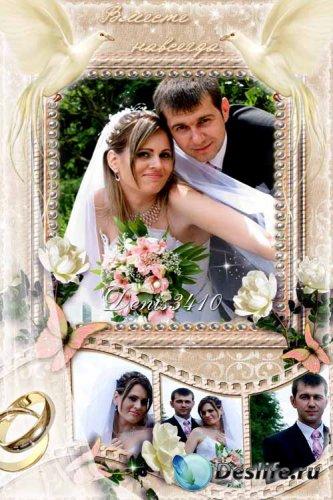 Свадебная рамочка для фото - Птицы счастья