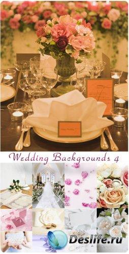 Фотоклипарт - Свадебные фоны 4