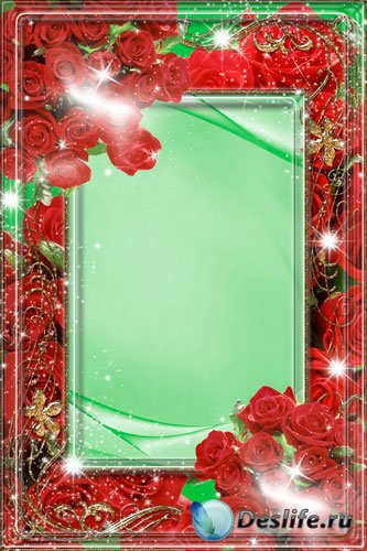 Поздравительная фоторамка - Розы