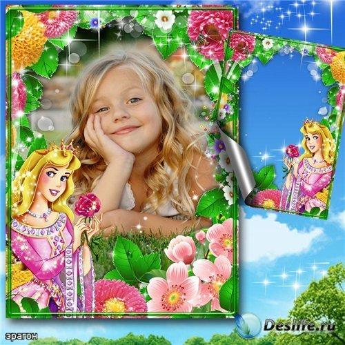 Детская рамочка для фотошоп девочкам – Мир Диснея
