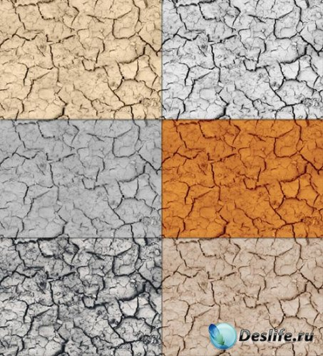 Tileable Crack Texture with 6 Colors