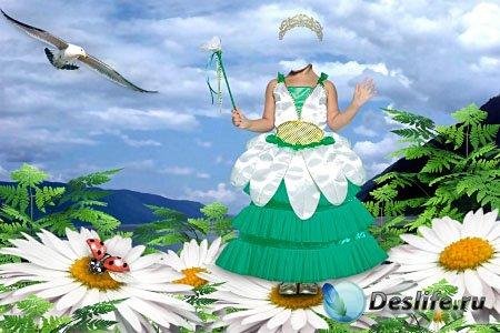 Детский костюм для фотошопа - Принцесса цветов
