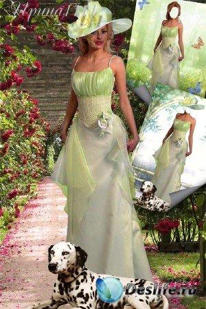 Женский костюм для фотошопа - Нежность весны