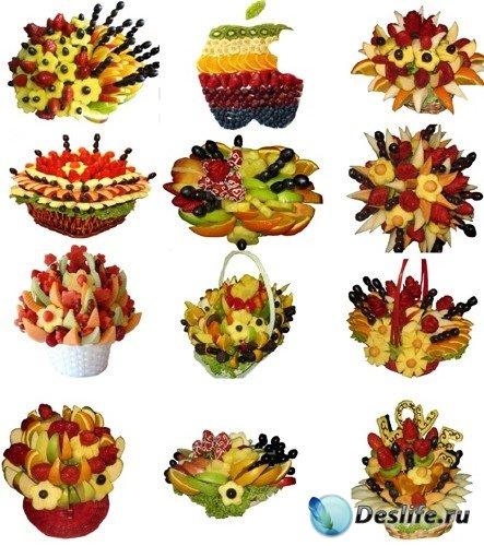 Клипарт - Букеты из фруктов