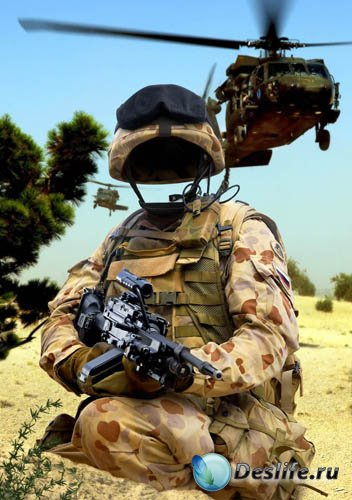 Костюм для фотошопа - Солдат армии США