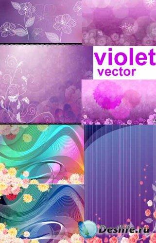 Фиолетовые фоны в векторе