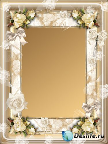 Рамка для фото - Прикосновение нежных роз