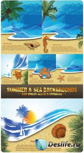 Векторный клипарт - Лето и море