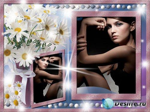 Рамка для фотошопа - Загадочная леди