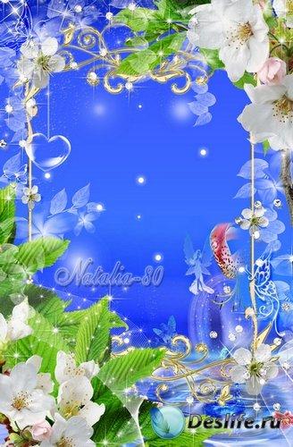 Цветочная рамочка для оформления фото - Волшебство весны