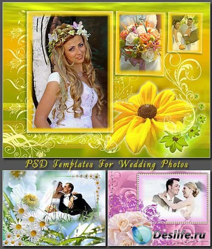 PSD Templates For Wedding Photos - Рамки для фотошопа