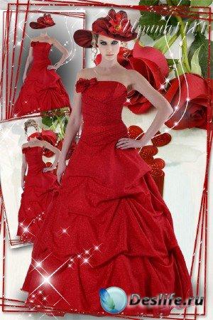 Костюм для фотошопа - Красная роза