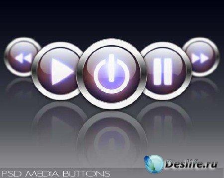 Исходник для Фотошопа кнопок для проигрывателя