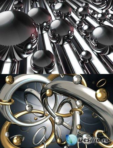 PSD Исходники - Металлические шарики, кольца