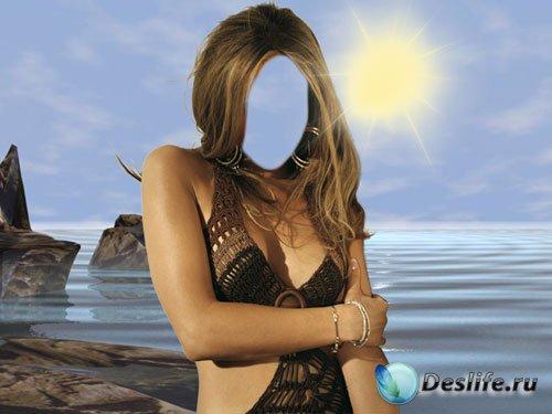 Костюм женский для фотошопа - Рассвет на море