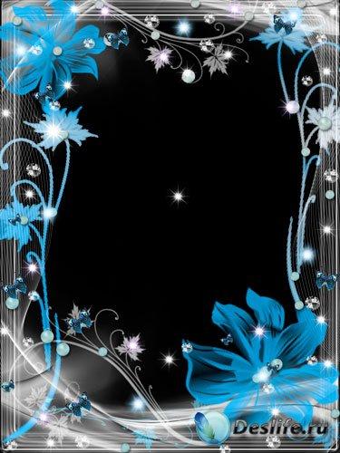 Рамка для фотошопа - Сказочный ночной цветок