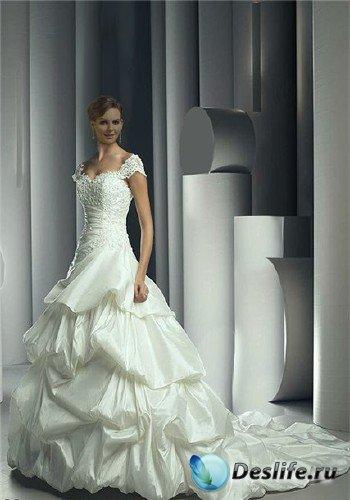 Костюм для фотошопа - Невеста в кружевном платье