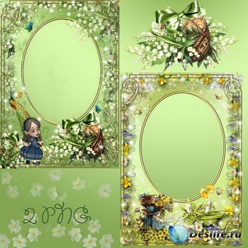 Рамка для фотошопа - Зеленая фантазия