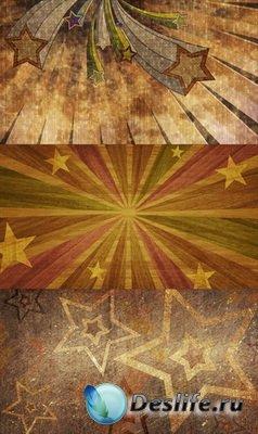 PSD Исходники - Звезды (летающие, на камне, из дерева)