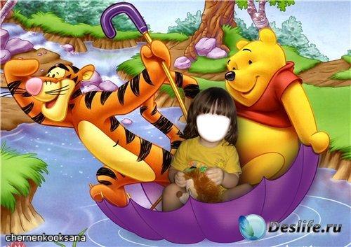 Детский костюмчик с Винни Пухом и его друзьями - 3