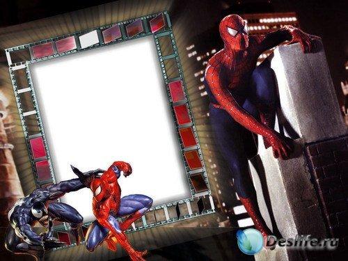 Рамка для фотошопа – Человек-паук
