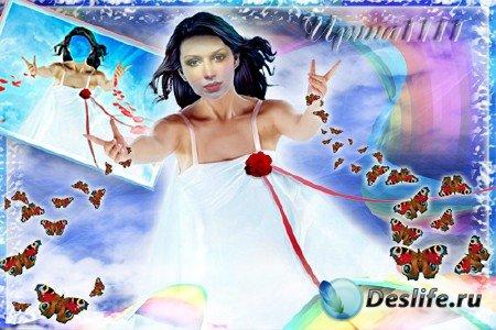 Женский костюм для фотошопа - Небесная фея