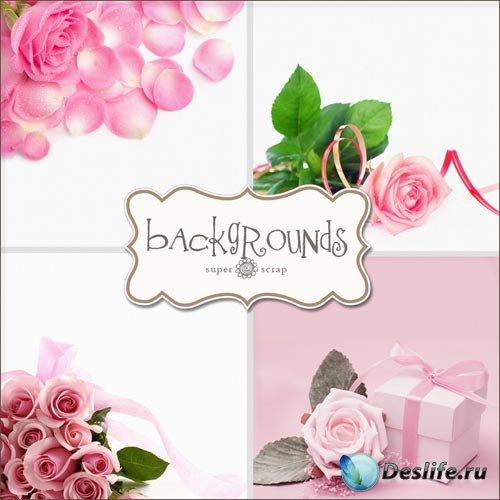 Текстуры - Розовые Цветочные Фоны