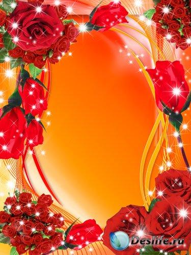 Рамка для фото - Ах, эти красные розы
