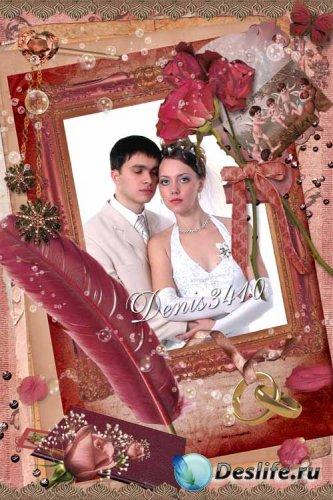 Свадебная рамочка для фото - Цветы вечного счастья