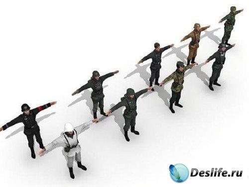 3D-модели - Немецкие солдаты