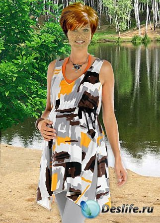 Женский костюм для фотошопа - На природе