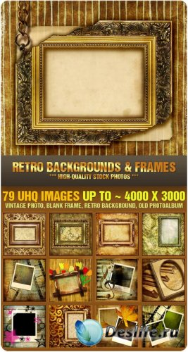 Фотоклипарт - Ретро фоны и рамки