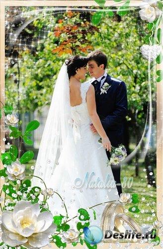 Нежная рамочка для оформления свадебных фото - Волшебный день