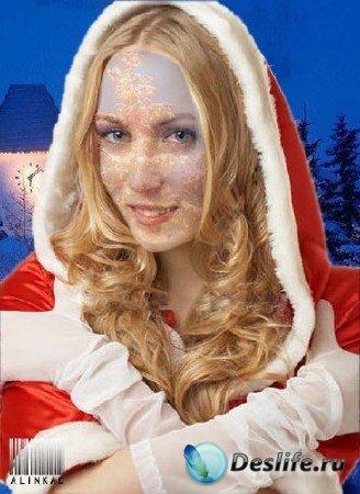 Костюм  для фотошопа - Новогодняя золушка!