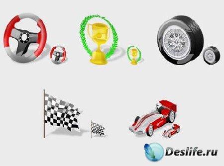 Иконки Formula 1 (разные размеры)