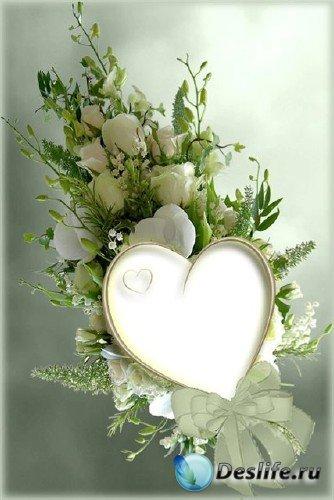 Рамка для фотошопа с розами и орхидеями