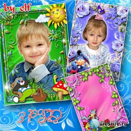 Детские рамочки для фотошопа - Любимые герои мультфильмов