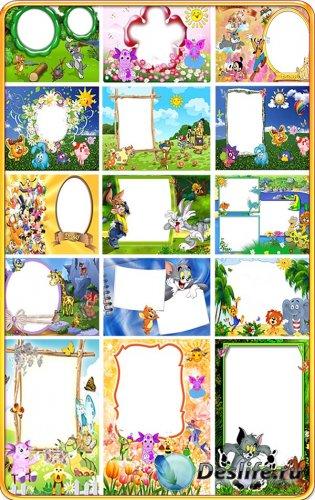Детские рамки для фотошопа - Любимые герои мультфильмов