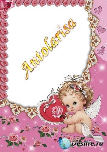 Рамочка для фото - Ангелочек