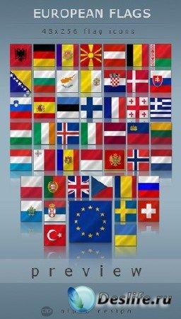 Иконки для рабочего стола european flags by