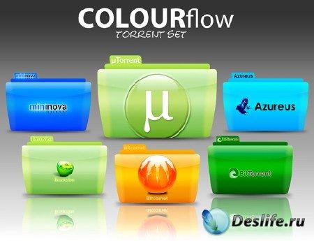 Иконки для рабочего стола (Windows/Linux) Серия Colorflow