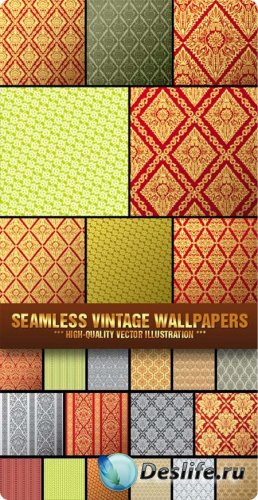 Stock Vector - Seamless Vintage Wallpapers