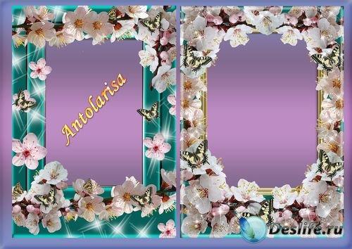 Рамки для фото - Сакура и бабочки